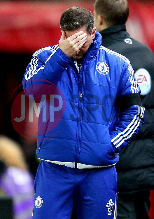 Chelsea coach Steve Holland looks dejected - Mandatory byline: Matt McNulty/JMP - 07966 386802 - 07/11/2015 - FOOTBALL - Britannia Stadium - Stoke-On-Trent, England - Stoke City v Chelsea - Barclays Premier League