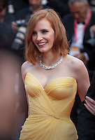 Actress Jessica Chastain at the gala screening for Woody Allen's film Café Society at the 69th Cannes Film Festival, Wednesday 11th May 2016, Cannes, France. Photography: Doreen Kennedy