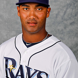 February 29, 2012; Port Charlotte, FL, USA; Tampa Bay Rays starting pitcher Wilking Rodriguez (51) poses for a portrait during photo day at Charlotte Sports Park.  Mandatory Credit: Derick E. Hingle-US PRESSWIRE