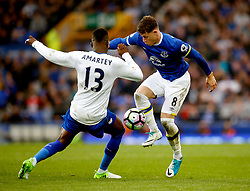 Ross Barkley of Everton takes on Daniel Amartey of Leicester City - Mandatory by-line: Matt McNulty/JMP - 09/04/2017 - FOOTBALL - Goodison Park - Liverpool, England - Everton v Leicester City - Premier League