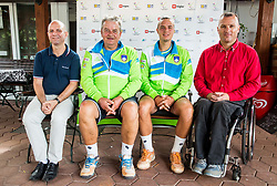 Robert Zlajpah, Darko Kegl, Marino Kegl and Gregor Gracnar at Media day of the Deaf tennis player Marino Kegl, organised by ZSIS - POK, on June 29, 2017 in Murska Sobota, Slovenia. Photo by Vid Ponikvar / Sportida