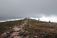 A view of the trail leading to the summit of Mt Katahdin in Maine's Baxter State Park.  The peak is the highest in Maine and is the northern terminus of the Appalachian Trail.