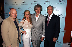 Left to right, ANTHONY MINGHELLA, SIR BOB GELDOF, MISS JEANNE MARINE and SYDNEY POLLOCK at a private screening of 'Sketches of Frank Gehry in association with jewellers Tiffany held at the Curzon Cinema, Mayfair on 10th May 2006 followed by a party at Nobu Mayfair, Berkeley Street.<br />