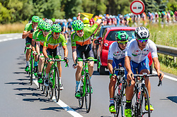05.07.2017, Altheim, AUT, Ö-Tour, Österreich Radrundfahrt 2017, 3. Etappe von Wieselburg nach Altheim (226,2km), im Bild Dominik Hrinkow (AUT, Hrinkow Advarics Cycleang), Florian Gaugl (AUT), Hrinkow Advarics Cycleang), Nils Friedl (AUT, Hrinkow Advarics Cycleang) // Dominik Hrinkow (AUT, Hrinkow Advarics Cycleang), Florian Gaugl (AUT), Hrinkow Advarics Cycleang), Nils Friedl (AUT, Hrinkow Advarics Cycleang) during the 3rd stage from Wieselburg to Altheim (199,6km) of 2017 Tour of Austria. Altheim, Austria on 2017/07/05. EXPA Pictures © 2017, PhotoCredit: EXPA/ JFK