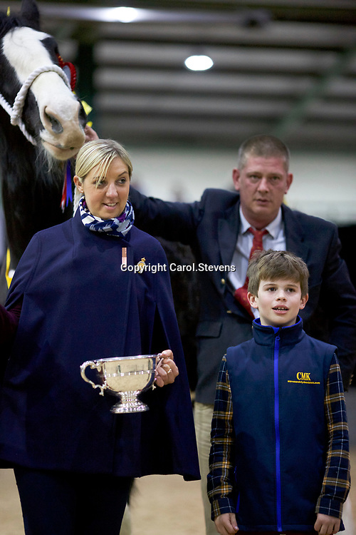 Mr W A King's COTEBROOK LOCH ANNA (No. 126)   Foaled 2014<br /> Sire   Moorfield Edward<br /> Dam   Cotebrook Loch Carron<br /> Winner 3 year old Filly, Junior Champion Female and Female Champion<br /> with Victoria Clayton, Secretary of the SHS