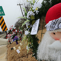 A memorial has been constructin at Mudd Creek in East Tupelo for Jimmy Fair floowing his death.
