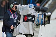 NIJMEGEN, NEC - Feyenoord, voetbal Eredivisie, seizoen 2013-2014, 15-09-2013, Stadion de Goffert, Fox Sports, Foxsports, tv, televisie, cameraman.