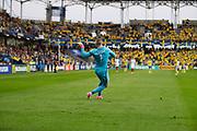 KIELCE, POLEN 2017-06-16<br /> Jordan Pickford under UEFA U21 matchen mellan Sverige och England p&aring; Arena Kielce den 16 juni, 2017.<br /> Foto: Nils Petter Nilsson/Ombrello<br /> Fri anv&auml;ndning f&ouml;r kunder som k&ouml;pt U21-paketet.<br /> Annars Betalbild.<br /> ***BETALBILD***