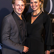 NLD/Amsterdam/20150211 - Premiere Fifty Shades of Grey, Thomas Berge en partner Myrthe Mylius
