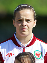 HAVERFORDWEST, WALES - Sunday, August 25, 2013: Wales' Amy Thrupp before the Group A match of the UEFA Women's Under-19 Championship Wales 2013 tournament against France at the Bridge Meadow Stadium. (Pic by David Rawcliffe/Propaganda)