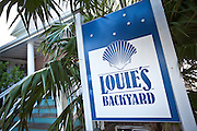 Louie's Backyard famous restaurant in Key West, Florida.