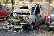 Arson attack security car, 04.11.15