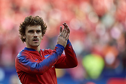 February 9, 2019 - Madrid, Madrid, Spain - Antoine Griezmann of Atletico Madrid during the week 23 of La Liga between Atletico Madrid and Real Madrid at Wanda Metropolitano stadium on February 09 2019, in Madrid, Spain. (Credit Image: © Jose Breton/NurPhoto via ZUMA Press)