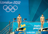 LUO Yutong, QIN Kai China.3 m. synchro springboard.Diving finals.London 2012 Olympics - Olimpiadi Londra 2012.day 06 August 1.Photo G.Scala/Deepbluemedia.eu/Insidefoto