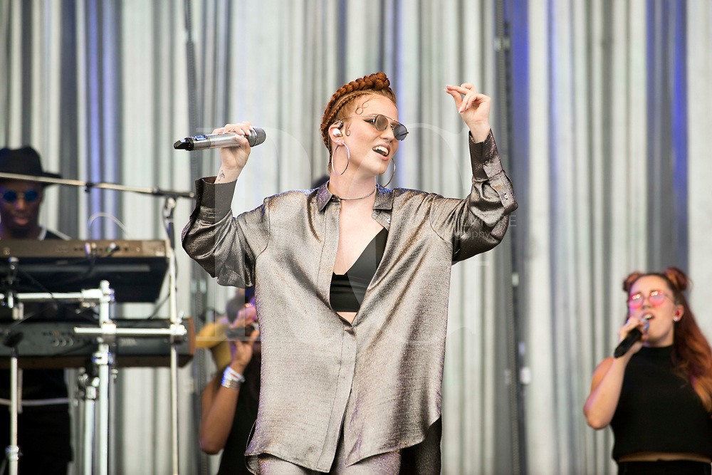 Jess Glynne performs on Day 2 of the T in the Park festival at Strathallan Castle on July 09, 2016 in Perth, Scotland.