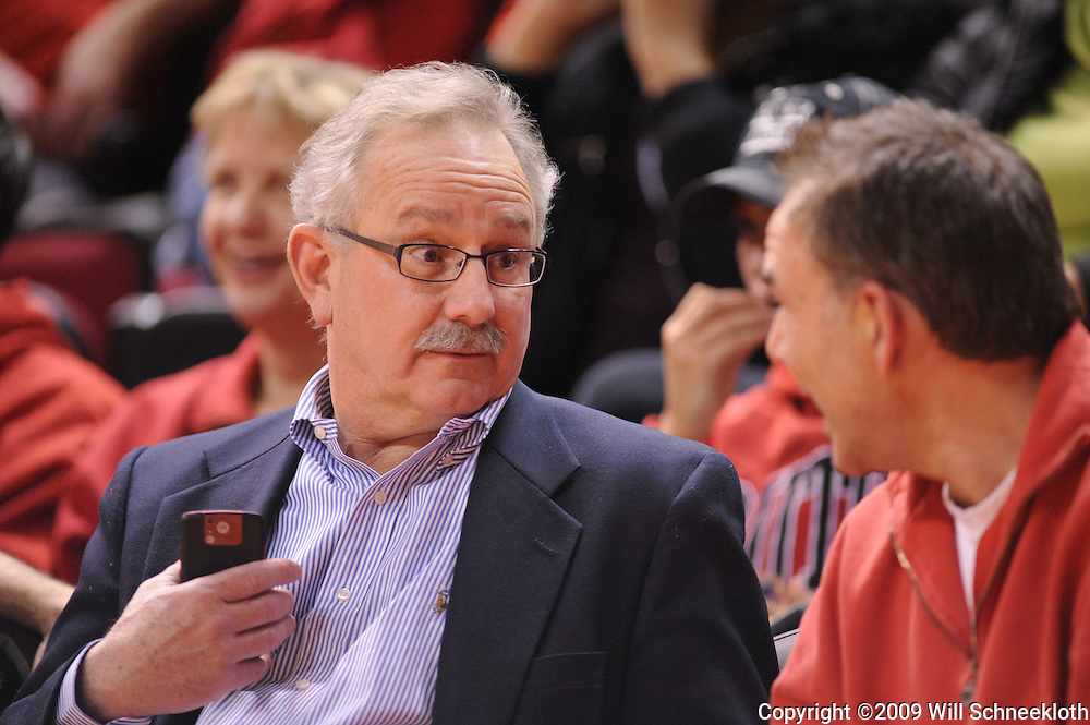 Jan 31, 2009; Piscataway, NJ, USA; Rutgers Interim Athletic Director Carl Kirschner during the second half of Rutgers' 75-56 victory over DePaul in NCAA college basketball at the Louis Brown Athletic Center