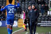 Stevenage manager Darren Sarll look on during the EFL Sky Bet League 2 match between Notts County and Stevenage at Meadow Lane, Nottingham, England on 24 February 2018. Picture by Nigel Cole.