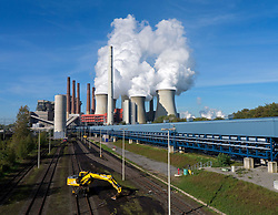 Neurath brown coal fired power station in North Rhine Westphalia in Germany
