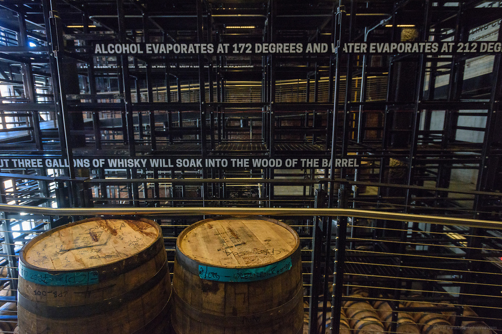 The barrel aging warehouse with a capacity of 800-900 barrels to house bourbon produced at the Old Forester Distilling Company on Whisky Row in Louisville, Ky. June 6, 2018