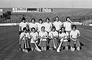 The Cork team before the All Ireland Senior Camogie Final Cork v Wexford in Croke Park on the 21st September 1975. Wexford 4-3 Cork 1-2.<br />
