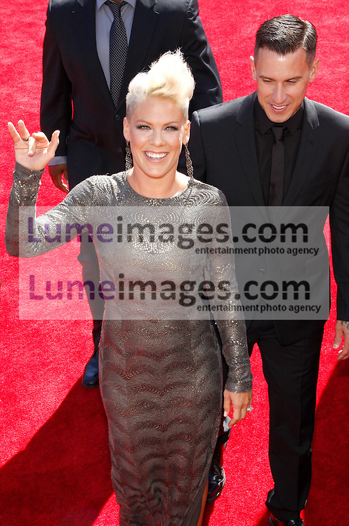 Pink at the 2012 MTV Video Music Awards held at the Staples Center in Los Angeles, United States on September 6, 2012. Credit: Lumeimages.com