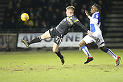 Andy Cannon shoots during the EFL Sky Bet League 1 match between Bristol Rovers and Rochdale at the Memorial Stadium, Bristol, England on 13 February 2018. Picture by Daniel Youngs.