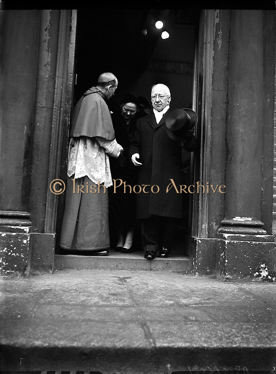 Funeral of the Most Rev. Alberto Levame, Apostolic Nuncio to Ireland..09/12/1958  ..The Most Rev. Albert Levame (19/01/1881 – 05/12/1958) was the fourth Apostolic Nuncio to Ireland...The following obituary from The Times (Ed. December 6, 1958) gives a short summation of his life:.The Most Rev. Alberto Levame, Apostolic Nuncio to Ireland and titular Archbishop of Chersonesus in Zechia, died in the Nunciature at Dublin yesterday. He was born in Monaco in 1881 and was ordained to the priesthood in 1905 but it was not until he was 52 years of age that he began his outstanding career as a diplomatist for the Holy See in many parts of the world. His first post was to the Nunciature in San Salvador and the Honduras and then followed periods in Uruguay and Egypt. As Internuncio in Cairo he took part in the negotiations which brought a settlement to the long-standing controversy over the teaching of the Christian religion in schools. When he was nominated Papal Nuncio to Ireland in June, 1954, he was 73 but he took an active part in religious and State affairs. He was given the freedom of the chief cities in the Republic and only on Wednesday received in absentia the degree of Doctor of Laws from the National University..