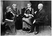 Marie CURIE (1867-1934) Polish-born French physicist, with her sisters Hela Szalay and Bronya Dluska and brother Joseph Sklodovski in Warsaw, 1912.
