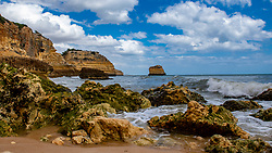 25-04-2019 POR: Vacation Algarve 2019 day 2, Albufeira<br /> Praia da Marinha, is one of the most emblematic and beautiful beaches of Portugal with Mediterranean climate, located on the Atlantic coast in Caramujeira, in Lagoa Municipality, Algarve, and considered by the Michelin Guide as one of the 10 most beautiful beaches in Europe and as one of the 100 most beautiful beaches in the world.