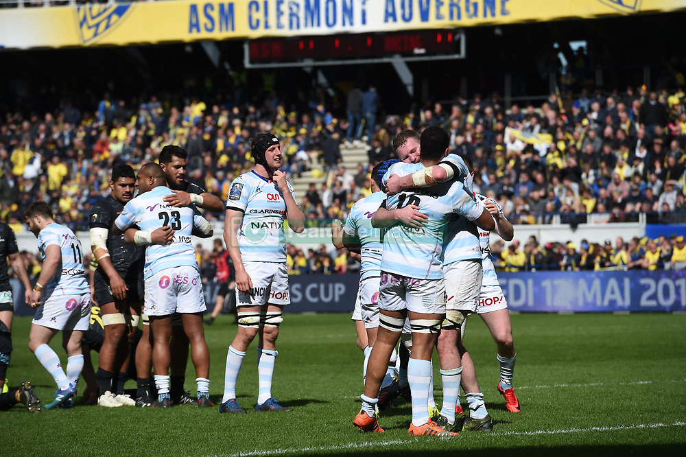 April 1, 2018 - Clermont Ferrand - Stade Marcel, France - Joie de Cedate Gomes SA et ses coequipiers  (Credit Image: © Panoramic via ZUMA Press)
