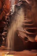 Sunbeam in Upper Antelope Canyon near Page, Arizona, USA