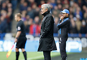 Manchester United's Manager Jose Mourinho during the Premier League match between Huddersfield Town and Manchester United at the John Smiths Stadium, Huddersfield, England on 21 October 2017. Photo by Paul Thompson.