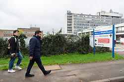 © Licensed to London News Pictures. 03/11/2019. London, UK. Ali Milani, the Labour Party General Election candidate was past Hillingdon Hospital whilst canvassing with supporters in Uxbridge & South Ruislip at the start of his campaign. He hopes to defeat British Prime Minister Boris Johnson who is MP for the constituency. Photo credit: Ray Tang/LNP