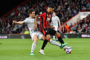 Ander Herrera (21) of Manchester United battles for possession with Joshua King (17) of AFC Bournemouth during the Premier League match between Bournemouth and Manchester United at the Vitality Stadium, Bournemouth, England on 18 April 2018. Picture by Graham Hunt.