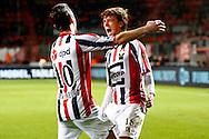 28-11-2015 VOETBAL:FC TWENTE-WILLEM II:ENSCHEDE<br /> Lucas Andersen van Willem II viert zijn doelpunt met Erik Falkenburg van Willem II <br /> <br /> Foto: Geert van Erven