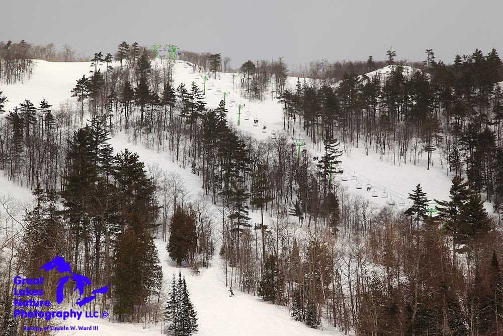 Lots of activity could be seen at the Mount Bohemia ski resort during my visit to the Lac La Belle area.