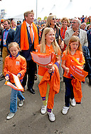 15-6-2014 - DEN HAAG - King Willem Alexander and Queen Maxima with princess Amalia , Ariane and Alexia visit the  Wk hockey final men Netherlands against  Australie . COPYRIGHT ROBIN UTRECHT