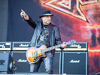 2019-06-06 | Norje, Sweden: Krokus performing at Sweden Rock Festival ( Photo by: Roger Linde | Swe Press Photo )<br /> <br /> Keywords: Sweden Rock Festival, Norje, Festival, Music, SRF, Krokus