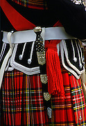 Scottish Dirk and kilt, Inverness, Scotland.