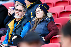 Worcester Warriors supporters - Rogan Thomson/JMP - 26/12/2016 - RUGBY UNION - Ashton Gate Stadium - Bristol, England - Bristol Rugby v Worcester Warriors - Aviva Premiership Boxing Day Clash.