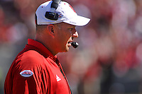 Head football coach Dave Doeren during homecoming game in Carter-Finley Stadium.