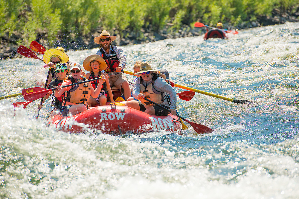 Day 1. Lower Salmon Canyons white water rafting put in near Whitebird in Region II.