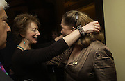 Maureen Lipman and Kathleen Turner, The after party following the press night for 'Who's Afraid Of Virginia Woolf?' at the Aldwych theatre on January 31 2006  January 31  2006. © Copyright Photograph by Dafydd Jones 66 Stockwell Park Rd. London SW9 0DA Tel 020 7733 0108 www.dafjones.com