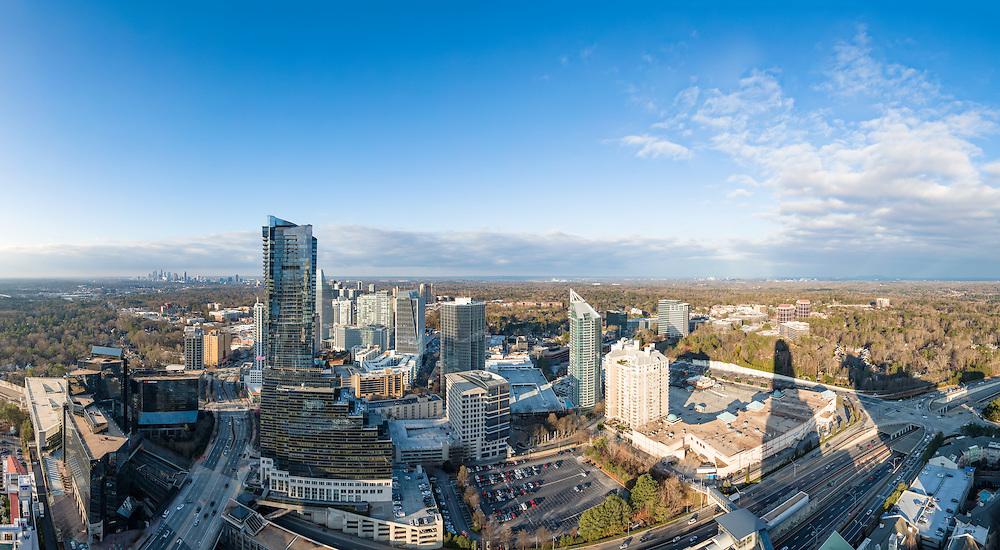 Daytime view of the Buckhead District and downtown Atlanta, Georgia