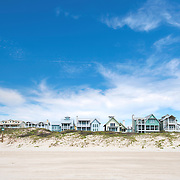 Row of Beach Houses in Port Aransas: Texas