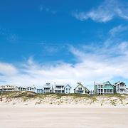 Row of Beach Houses in Port Aransas: Texas