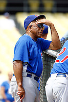 22 August 2009: Coach Ivan Alvarez De Jesus Sr. during batting practice before the MLB National League Chicago Cubs 2-0 loss to the Los Angeles Dodgers at Chavez Ravine.
