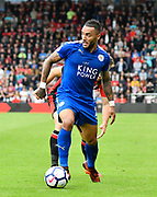 Danny Simpson (2) of Leicester City during the Premier League match between Bournemouth and Leicester City at the Vitality Stadium, Bournemouth, England on 30 September 2017. Photo by Graham Hunt.