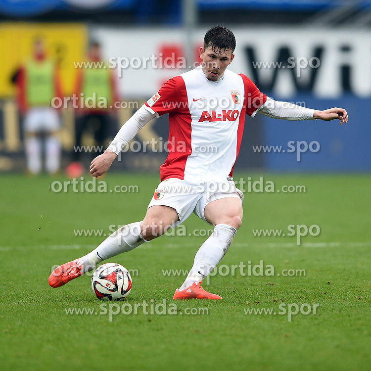 11.04.2015, Benteler Arena, Paderborn, GER, 1. FBL, SC Paderborn 07 vs FC Augsburg, 28. Runde, im Bild Bild: Pierre Emile Hojbjerg (FC Augsburg) // during the German Bundesliga 28th round match between SC Paderborn 07 and FC Augsburg at the Benteler Arena in Paderborn, Germany on 2015/04/11. EXPA Pictures &copy; 2015, PhotoCredit: EXPA/ Eibner-Pressefoto/ Sippel<br /> <br /> *****ATTENTION - OUT of GER*****
