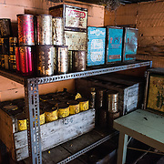 A supplies storage area adjacent to the kitche at Wordie House. Originally known as Base F and later renamed after James Wordie, chief scientist on Ernest Shackleton's major Antarctic expedition, Wordie House dates to the mid-1940s. It was one of a handful of bases built by the British as part of a secret World War II mission codenamed Operation Tabarin. The house is preserved intact and stands near Vernadsky Research Base in the Argentine Islands in Antarctica.